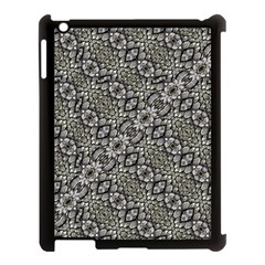 Silver Oriental Ornate  Apple Ipad 3/4 Case (black) by dflcprints