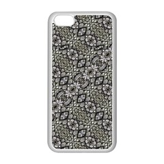 Silver Oriental Ornate  Apple Iphone 5c Seamless Case (white) by dflcprints