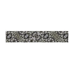 Silver Oriental Ornate Flano Scarf (mini) by dflcprintsclothing