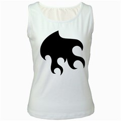 Flames Women s White Tank Top by TRENDYcouture