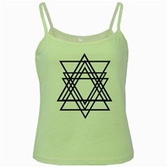 Triangles Green Spaghetti Tank by TRENDYcouture