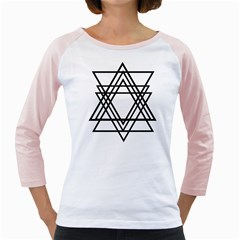 Triangles Girly Raglans by TRENDYcouture