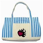 Heartflame Striped Blue Tote Bag