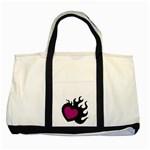 Heartflame Two Tone Tote Bag