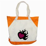 Heartflame Accent Tote Bag
