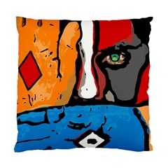 Blue Square Cushion Case (two Sided)  by DryInk