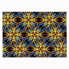 Vibrant Medieval Check Large Glasses Cloth (2 Side) by dflcprints