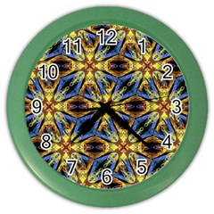 Vibrant Medieval Check Color Wall Clocks by dflcprints
