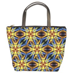Vibrant Medieval Check Bucket Bags by dflcprints