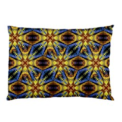 Vibrant Medieval Check Pillow Case by dflcprints