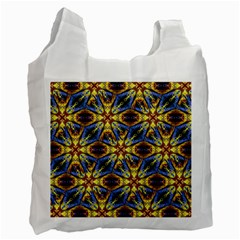 Vibrant Medieval Check Recycle Bag (one Side) by dflcprints