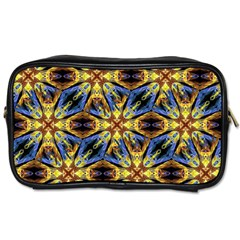 Vibrant Medieval Check Toiletries Bags 2 Side by dflcprints