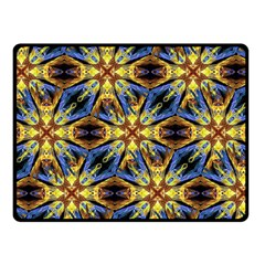 Vibrant Medieval Check Fleece Blanket (small) by dflcprints