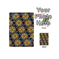 Vibrant Medieval Check Playing Cards 54 (mini)  by dflcprints