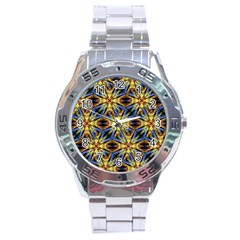 Vibrant Medieval Check Stainless Steel Analogue Watch by dflcprints