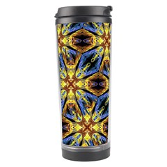 Vibrant Medieval Check Travel Tumbler by dflcprints