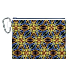 Vibrant Medieval Check Canvas Cosmetic Bag (l) by dflcprints