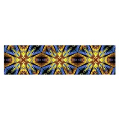 Vibrant Medieval Check Satin Scarf (oblong) by dflcprints