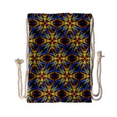 Vibrant Medieval Check Drawstring Bag (small) by dflcprints