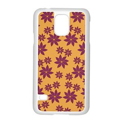 Purple And Yellow Flower Shower Samsung Galaxy S5 Case (white) by CircusValleyMall