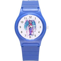 Dirty Wings Round Plastic Sport Watch (s) by lvbart