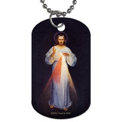 Divine Mercy Dogtag By Susie   Dog Tag (two Sides)   M840hkhqbsnj   Www Artscow Com Front