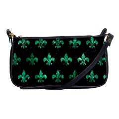 Royal1 Black Marble & Green Marble (r) Shoulder Clutch Bag by trendistuff
