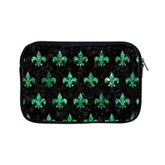 Royal1 Black Marble & Green Marble (r) Apple Ipad Mini Zipper Case by trendistuff