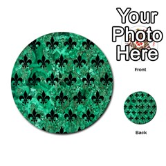 Royal1 Black Marble & Green Marble Multi Purpose Cards (round) by trendistuff