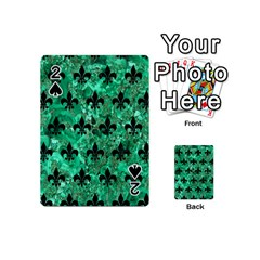 Royal1 Black Marble & Green Marble Playing Cards 54 (mini) by trendistuff