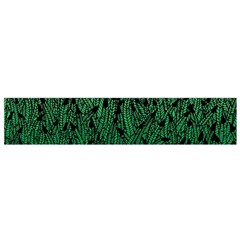 Green Ombre Feather Pattern, Black, Flano Scarf (small) by Zandiepants