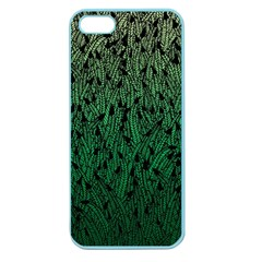 Green Ombre Feather Pattern, Black, Apple Seamless Iphone 5 Case (color) by Zandiepants