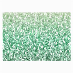 Green Ombre Feather Pattern, White, Large Glasses Cloth by Zandiepants