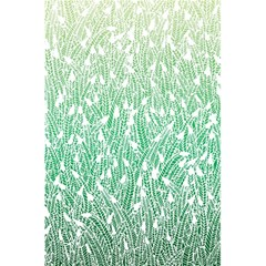 Green Ombre Feather Pattern, White, 5 5  X 8 5  Notebook by Zandiepants