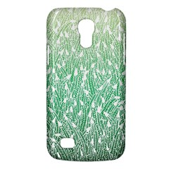 Green Ombre Feather Pattern, White, Samsung Galaxy S4 Mini (gt I9190) Hardshell Case  by Zandiepants