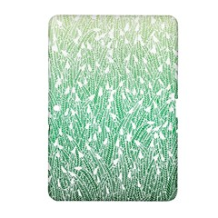 Green Ombre Feather Pattern, White, Samsung Galaxy Tab 2 (10 1 ) P5100 Hardshell Case  by Zandiepants