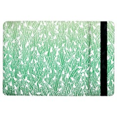 Green Ombre Feather Pattern, White, Apple Ipad Air 2 Flip Case by Zandiepants