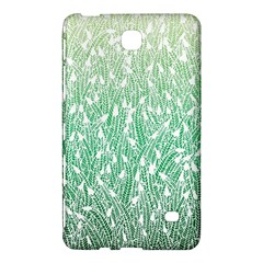 Green Ombre Feather Pattern, White, Samsung Galaxy Tab 4 (8 ) Hardshell Case  by Zandiepants