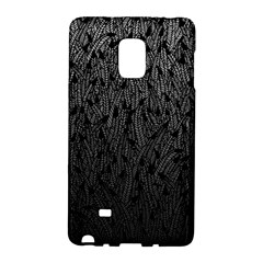 Grey Ombre Feather Pattern, Black, Samsung Galaxy Note Edge Hardshell Case by Zandiepants