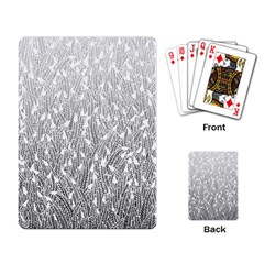 Grey Ombre Feather Pattern, White, Playing Cards Single Design by Zandiepants