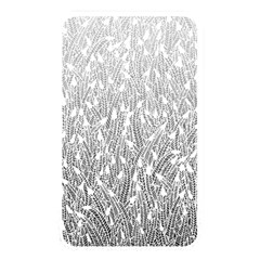 Grey Ombre feather pattern, white, Memory Card Reader (Rectangular) by Zandiepants