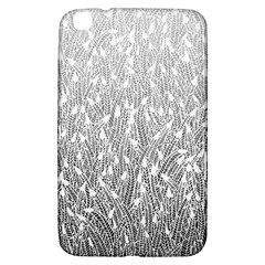 Grey Ombre Feather Pattern, White, Samsung Galaxy Tab 3 (8 ) T3100 Hardshell Case  by Zandiepants