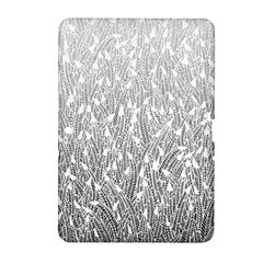 Grey Ombre Feather Pattern, White, Samsung Galaxy Tab 2 (10 1 ) P5100 Hardshell Case  by Zandiepants
