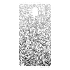 Grey Ombre Feather Pattern, White, Samsung Galaxy Note 3 N9005 Hardshell Back Case by Zandiepants
