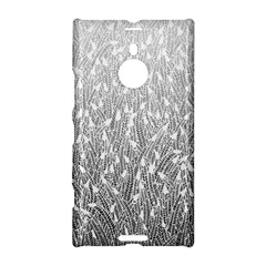 Grey Ombre Feather Pattern, White, Nokia Lumia 1520 Hardshell Case by Zandiepants
