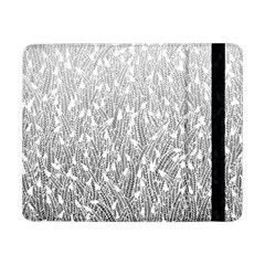 Grey Ombre Feather Pattern, White, Samsung Galaxy Tab Pro 8 4  Flip Case by Zandiepants