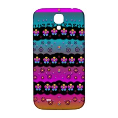 Rainbow  Big Flowers In Peace For Love And Freedom Samsung Galaxy S4 I9500/i9505  Hardshell Back Case by pepitasart