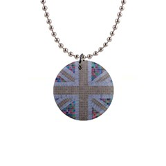 Multicoloured Union Jack Button Necklaces by cocksoupart