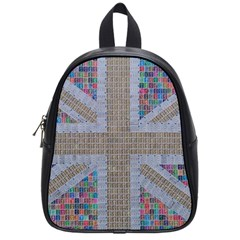 Multicoloured Union Jack School Bags (Small)  by cocksoupart
