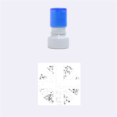 Multicoloured Union Jack Rubber Round Stamps (small) by cocksoupart